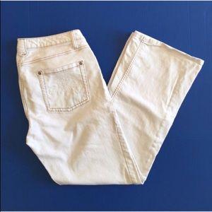 CAbi Cream Straight Leg Jeans